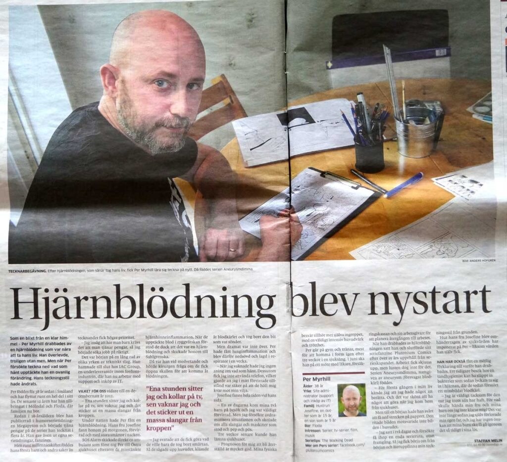 Artikel om serieskaparen Per Myrhill (GP).
